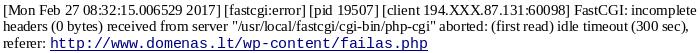 PHP perviršių pranešimas
