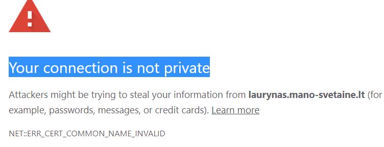 SSL klaida