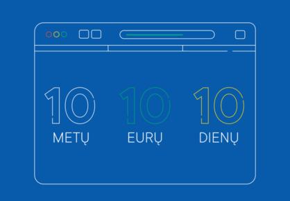 .EU domenas: 10 metų – tik 10 eurų