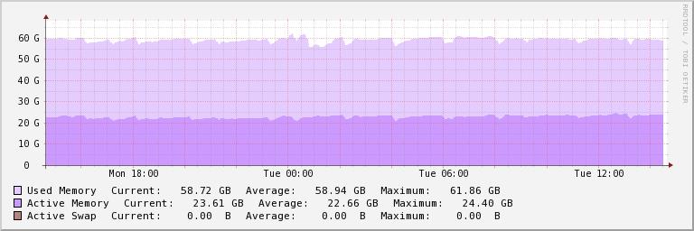 RAM naudojimo grafikas